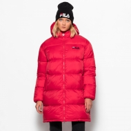 Fila Bronwen Puff Hood Jacket red rot