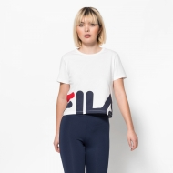 Fila Early Cropped Tee white weiß