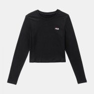 Fila Eaven Cropped Long Sleeve Shirt black schwarz