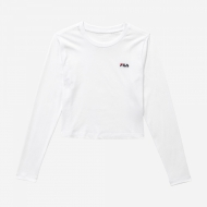 Fila Eaven Cropped Long Sleeve Shirt white weiß
