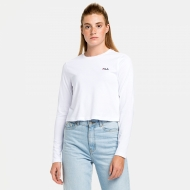 Fila Ece Cropped Longsleeve Shirt white Bild 1