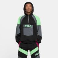Fila Gia Oversized Half Zip black-turbulence-green-sangria Bild 1