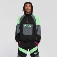 Fila Gia Oversized Half Zip black-turbulence-green-sangria blau