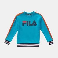 Fila Kids Alessio Logo Crew Shirt blue-orange Bild 1