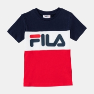 Fila Kids Classic Day Blocked Tee navyblau-rot