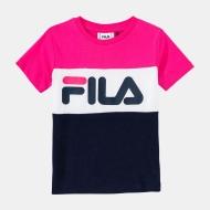 Fila Kids Classic Day Blocked Tee pink-yarrow-black-iris pink