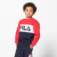 Fila Kids Night Blocked Crew black-iris-red navyblau-rot