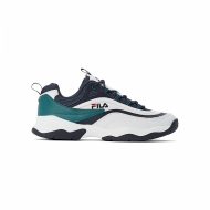 Fila Ray CB Low Men white-black-everglade grün