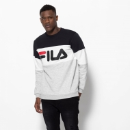 Fila Straight Blocked Crew schwarz-grau