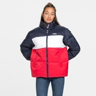 Fila Susi Puff Jacket blue-red-white navyblau-rot