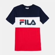 Fila Teens Classic Day Blocked Tee black-iris-red navyblau-rot