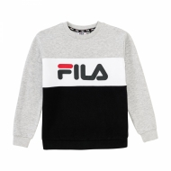 Fila Teens Night Blocked Crew Shirt hellgrau