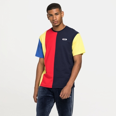 Fila Bansi Blocked Tee blue-red-yellow