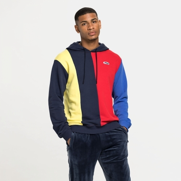 Fila Barin Blocked Hoody red-blue-yellow