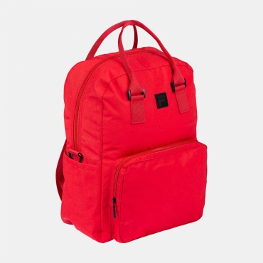 Fila Coated Canvas Convertible Mid Backpack true red