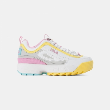 Fila Disruptor CB JR white-limelight