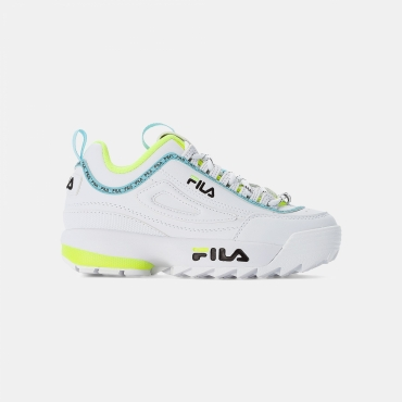 Fila Disruptor Logo JR white-neon-lime