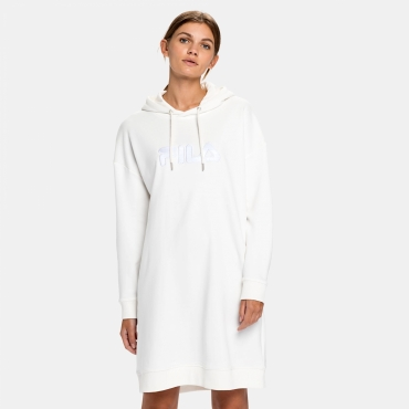 Fila Felice Oversized Hoody Dress blanc-de-blanc