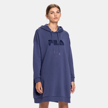 Fila Felice Oversized Hoody Dress crown-blue