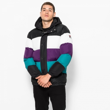 Fila Giovannie Vintage Colour Blocked Puffa Jacket