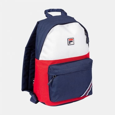 Fila Kids Backpack S´Cool Two Small Heritage Stripe black-iris-red-white