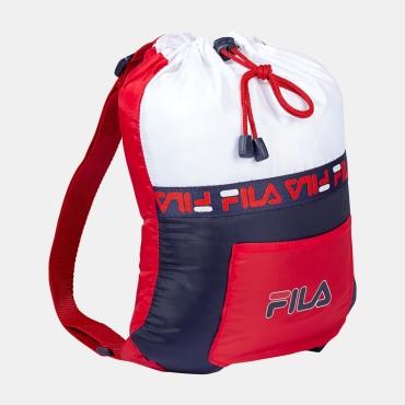 Fila Kids Backpack Soft Drawstring black-iris-red-white