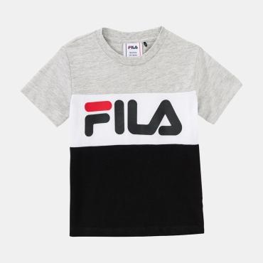 Fila Kids Classic Day Blocked Tee lightgrey-melange-black