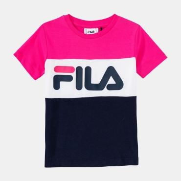 Fila Kids Classic Day Blocked Tee pink-yarrow-black-iris