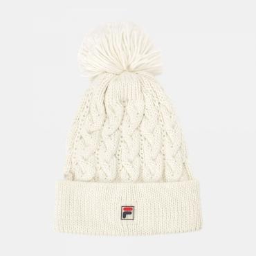 Fila Knitted Explorer Pompon Beanie blanc-de-blanc