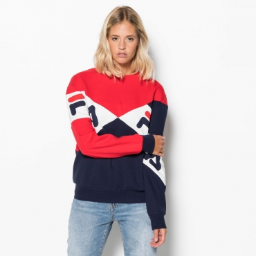 Fila Lidia Boyfriend Fit Shirt red-peacoat