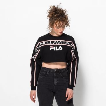 Fila Lucie Crop Raw Hem Sweatshirt black