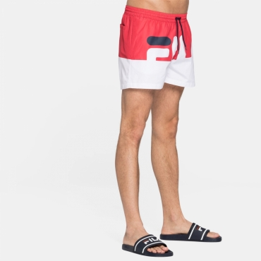 Fila Makoto Swim Shorts red-white