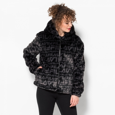 Fila Margot Hooded Fur Jacket