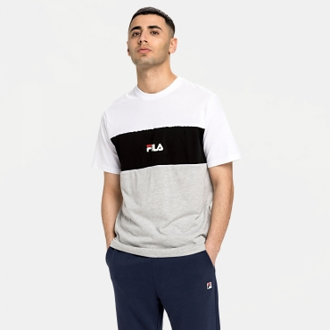 Fila Men Anoki Blocked Tee lightgrey-melange