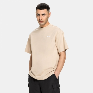 Fila Men Fonda Oversized Dropped Shoulder Tee oxford-tan