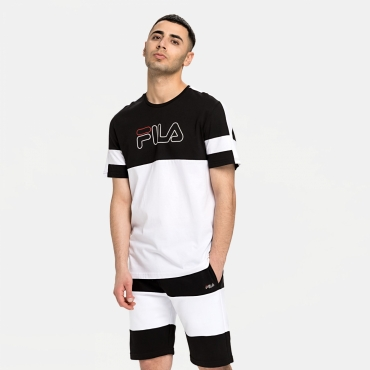 Fila Men Jadon Blocked Tape Tee