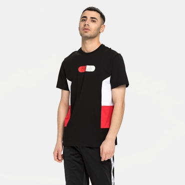 Fila Men Jalen Bloked Tee black-red-white
