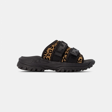 Fila Outdoor Slide Animal Print Wmn black