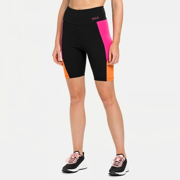 Fila Peri High Waist Short Leggings black-beetroot-purple