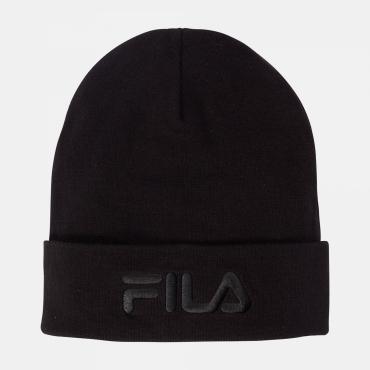Fila Slouchy Beanie With Tonal Logo black