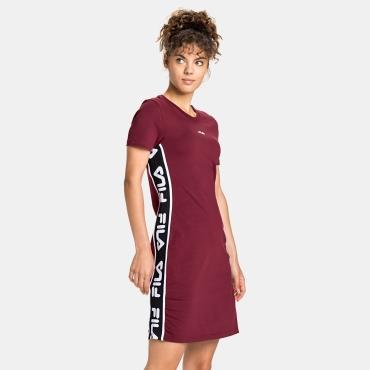Fila Taniel Tee Dress dark red