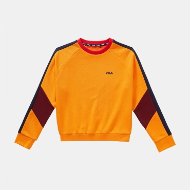 Fila Teens Ariana Cropped Crew Sweat orange