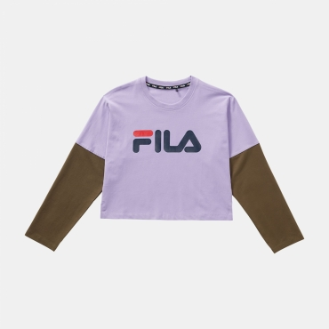 Fila Teens Bea Cropped Top purple-olive