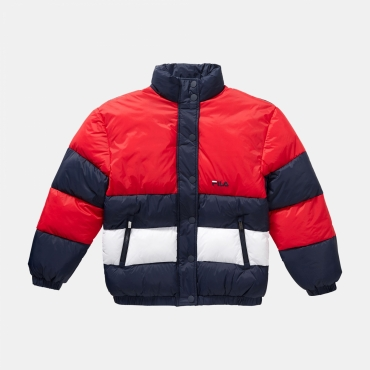 Fila Teens Betty Puff Jacket navy-red-white