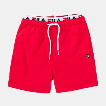 Fila Teens Boys Rene Swim Shorts red