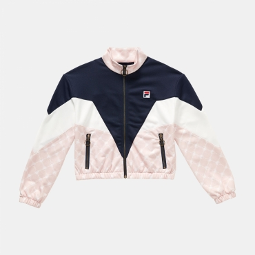 Fila Teens Daniela Knitted Jacket navy-white-rose