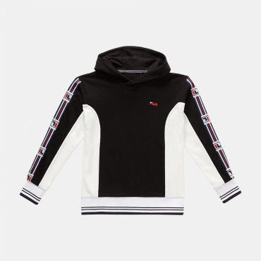 Fila Teens Fabri Taped Hoody black-white
