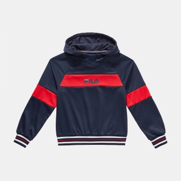 Fila Teens Meo AOP Hoody black-iris-red