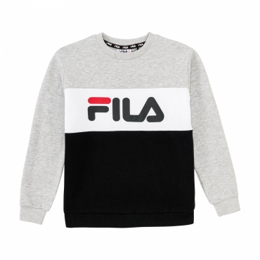 Fila Teens Night Blocked Crew Shirt