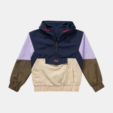 Fila Teens Tilli Blocked Hooded Anorak cream-purple-olive